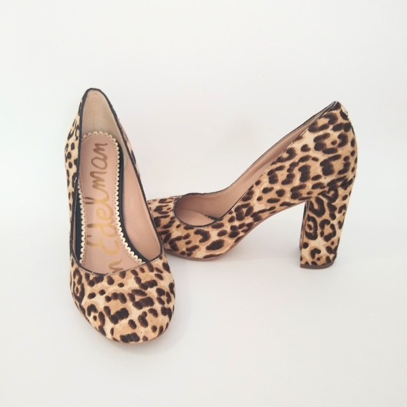 Sam Edelman Shoes - Sam Edelman Stillson leopard calf hair pumps EUC 6
